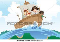 海賊, 子供 拡大クリップアートを見る