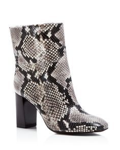 ccda97293b55 Tory Burch Devon Snake-Embossed High Heel Booties Tory Burch - Women s Shoes  - Bloomingdale s