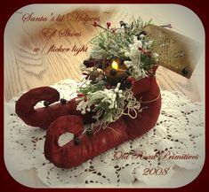 Primitive Santa's lil' Helpers Elf Shoes Christmas Instant Download PDF Pattern