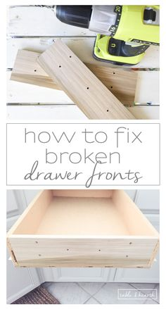 How To Fix Broken Drawer Fronts   An Easy And Strong Way To Fix Those  Cracked Oru2026