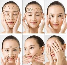 Facial Massage The skin around your eyes requires special attention. It needs intense, but delicate treatment. Facial masks, cleansing, and nourishing treatments – all these procedures need to be done regularly. Yoga Facial, Massage Facial, Face Yoga, Neck Massage, Spa Massage, Foot Massage, Massage Therapy, Beauty Care, Beauty Skin