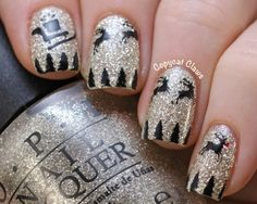 Copycat Claws: Santa and His Reindeer Nail Art