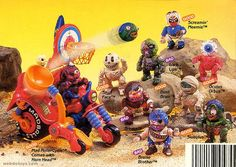 Madballs Head-Popping figures by AmToy - My brother & I used to have a few of these
