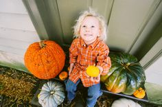 Fall family photo shoot with pumpkins in North Carolina by Jen Yuson Photography | Two Bright Lights :: Blog
