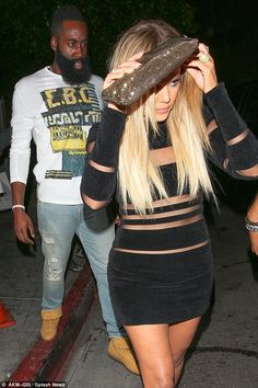 Keeping up with the Kardashians: Khloe and Harden, seen here leaving Kylie…