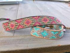 Roze Tribal Ombre diamant kralen armband van vriendschap