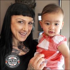 One of my favorite pictures, she was such a sweetie! @TribalCalgary #tribalcalgary #calgarysfinest #lobepiercing