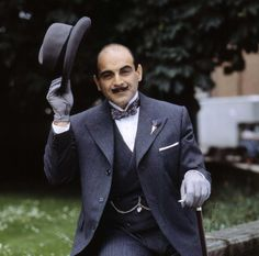 Agatha Christie and Hercule Poirot | His love of elegance, beauty, and precision, as well as his eccentric mannerisms are often ridiculed by the local bumbling policemen, but it is always Poirot who has the last word.
