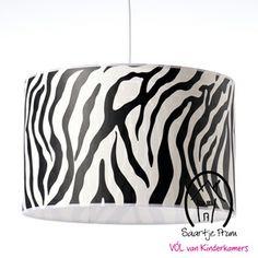 Hanglamp 40cm zebra zwart - Kinderkamer taupe ...