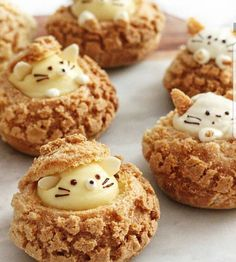 """10.2k Likes, 101 Comments - AmourDuCake (@amourducake) on Instagram: """"Yes or no?? Kitty choux  by @sweet_essence_ Its so cute !!!! #choux #animal #pet #mouse…"""" Japanese Sweets, School Holidays, Eclairs, Profiteroles, Black White, Cute Desserts, Dessert Recipes, Happy Monday, Cute Food"""