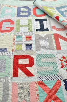 Free patchwork alphabet inspired by a quilt by kathryn simel piece simplify spell it with moda links to patterns for all these cute letter blocks spiritdancerdesigns