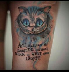Cheshire Cat Tattoo, German work