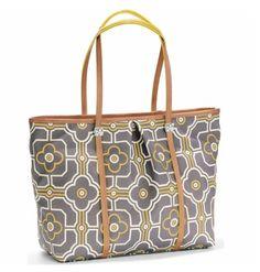 Brighton yellow and grey tote handbag #earabstractsboutique