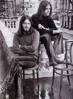 1971: Pink Floyd. David Gilmore...such a hottie back then!
