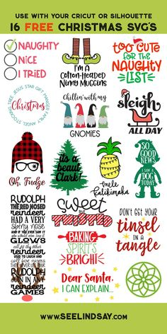 Free Christmas Story SVG 16 Christmas Cut Files We're back with more free Christmas Cut Files! Make Christmas Crafts with your Cricut Maker, Cricut Explore or Silhouette Cameo with these adorable free Christmas svg files! Vinyle Cricut, Cricut Vinyl, Vinyl Decals, Merry Christmas, A Christmas Story, Christmas Crafts, Christmas Gnome, Christmas Vinyl, Cricut Projects Christmas