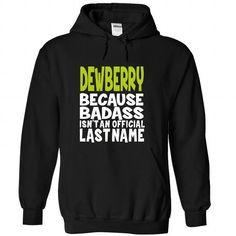 (BadAss) DEWBERRY - #monogrammed gift #gift packaging. MORE ITEMS => https://www.sunfrog.com/Names/BadAss-DEWBERRY-zinxsszwcq-Black-44670695-Hoodie.html?id=60505