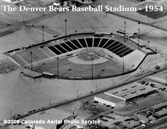 The old Denver Bears baseball stadium was once located at the . Eventually becoming the old Mile High Stadium where the Denver Broncos, Denver Bear, and then Zephyrs played. Longmont Colorado, Colorado Rockies, Denver Colorado, Colorado Springs, Denver Tv, Denver Broncos Football, Go Broncos, Football Stadiums, Jefferson Park