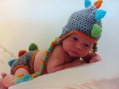 baby crochet dinosaur -