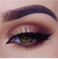 Easy burgundy brown cut crease More More