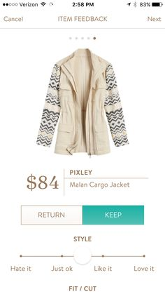 I love the print on the sleeves but would prefer a darker color jacket https://www.stitchfix.com/referral/3709326