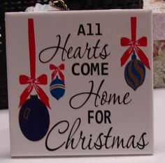 All hearts come home for Christmas tile by VINYLandBOWS on Etsy