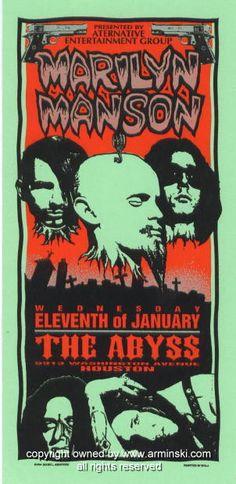 1995 Marilyn Manson Concert Handbill by Mark Arminski (MA-017)