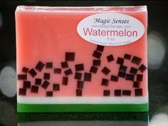 Watermelon Glycerin soap by Magic Senses ®. Smells wonderful! All our soaps are available at www.MagicSenses.com