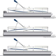 Navy Blue Smoke Gray Pontoon Boat Graphics And Decals Pontoon - Decals for pontoon boats