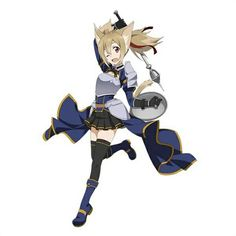 Sword Art Online - Silica wearing Lisbeth's outfit