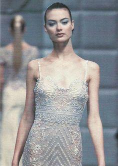 Shalom Harlow at Valentino Haute Couture S/S 1996.  Found on notordinaryfashion.tumblr.com via Tumblr