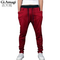 Check lastest price 2015 Slim Drawstring elastic waist Brand Sweatpants Trousers Men Harem Pants, Men'S Big Pocket Man Cargo Joggers just only $12.24 with free shipping worldwide  #pantsformen Plese click on picture to see our special price for you