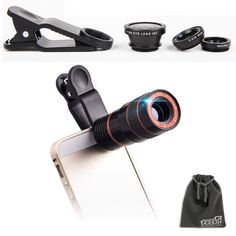 EEEKit 2in1 Lens Kit for iPhone 7 6S 6 Samsung Galaxy J7 Note 5/4 S7 S6 Edge Plus LG Nexus BLU R1/Advance, Universal 8X Zoom Telephoto Lens, Marco Wide Angle FishEye Lens. This kit is for your photography needs. Compatible with:BLU R1/Advance,Moto G Play (4th gen.),iPhone 6S Plus/6S/6 Plus/6/5S/5C/5/4S,Samsung Galaxy J7 S7 Edge/S7/S6 Edge +/S6 Edge/S6/S5/S4/S3,Samsung Galaxy Note 5/4/3/2,LG G5/G4/G3/G2,LG Stylo 2,Google Nexus 7/6/5/4,HTC One M9/M8/ E9 Plus,Sony Xperia Z5/Z4/Z3,Motorola…