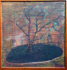 'Garden Tree' - One of Lost Vincent that had been found in Indonesia, and now has been collected by GusPande in Denpasar, Bali.  The paint and the canvas had more 100 years old. By the yar on the painting, this painting had been predicted created about 1887. Longlife VVG...