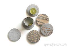 DIY Concrete Coasters With Decorative Inserts