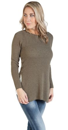 Temptation Sweater Silver Icing, Brown Sweater, Cool Outfits, Tunic Tops, Pullover, Chic, Womens Fashion, Polyvore, Sweaters