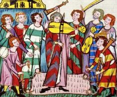 Medieval Musical Instruments - STRIPES, PINK, BLUE, YELLOW, GREEN, PURPLE