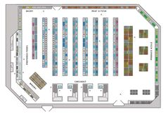 layout of a supermarket - Google Search