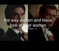 Love the vampire diaries the guys are so bold and confident and arent afraid to go after what or who they want
