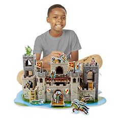 Medieval Castle Puzzle and thousands more of the very best toys at Fat Brain Toys. Fit together foam pieces--with no glue or scissors required--into a multi-level fortress, complete with turrets, a moat, a drawbridge th. Activities For Adults, Castle Wall, Best Kids Toys, Melissa & Doug, 3d Puzzles, Backyard For Kids, Medieval Castle, Creative Thinking, Child Safety