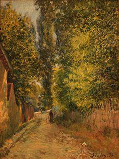 le-desir-de-lautre:  Alfred Sisley (French, 1839-1899), Environs de Louveciennes, 1876. Oil on canvas,Wallraf-Richartz Museum, Köln, German...