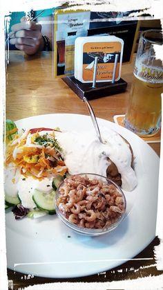 Beim Klüver in Neustadt Kartoffel mit SurCreme und super viel Schrimps