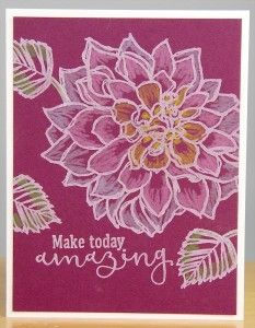 Stamping With Dahlias - Club Scrap