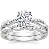 18K White Gold Petite Luxe Twisted Vine Matched Set (1/2 ct. tw.)