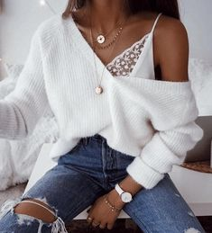 Outfits # Pullover-Outfits übergroße Pullover - Mode-Ideen The History of Canadian Diamonds It is sa Winter Fashion Outfits, Sweater Fashion, Spring Outfits, Beach Outfits, Fashion Spring, Fashion Boots, Fashion Mode, Look Fashion, Womens Fashion