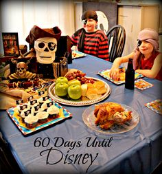 Countdown To Disney - Pirates of The Caribbean Party - Family dinner and movie night.