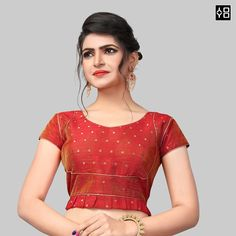 Shop Latest Red Silk Saree Blouse for Women Online in India Now. SKU - Check Out the Collection of latest Blouse Designs on YOYO Fashion. Blouse Designs High Neck, Best Blouse Designs, Saree Blouse Designs, Red Blouses, Blouses For Women, Readymade Blouses Online, Blouse Batik, Indian Party Wear, Red Fashion