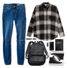 """""""Untitled #1377"""" by timeak ❤ liked on Polyvore featuring Rosendahl, Monki, Aéropostale, Sloane Stationery, Victoria's Secret, Converse, Native Union and PyroPet"""