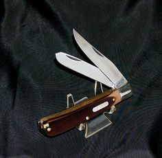"Schrade 96OT Knife Bearhead Trapper W/Tools 4-1/8"" USA Made 1980's No Packaging @ ditwtexas.webstoreplace.com"