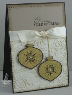 SU Delightful Decorations, Contempo Christmas C/S: Early Espresso, Crumb Cake, Very Vanilla, Ink: Versamark, Crumb Cake, Gold Embossed, Vintage Wallpaper E F (Sept 3, 2011)