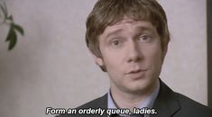 Form an orderly queue, ladies; Martin Freeman in The Office UK
